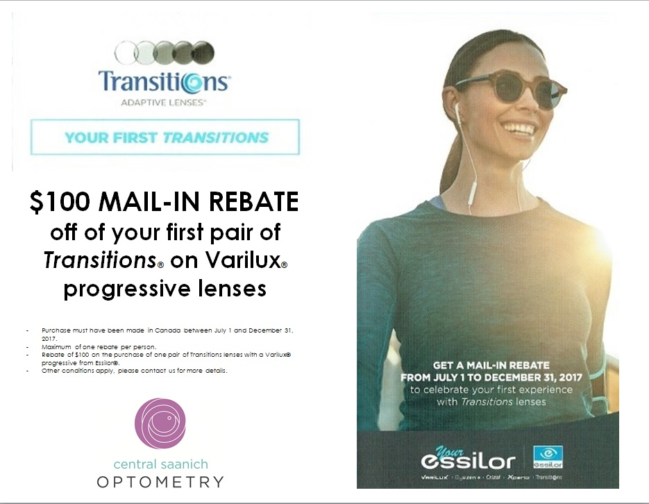 Transitions mail-in rebate.